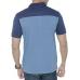 Men's Blue Solid Cotton Polo T-Shirt
