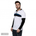 Men's White Cotton Blend Self Pattern Hooded Tees