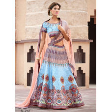 Pure Heritage Silk Wedding & Party Wear 2 in 1 Lehenga Gown