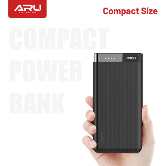 ARU APB-1030 10000mAh Li-Polymer Power Bank-Black