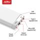 ARU APB-1030 10000mAh Li-Polymer Power Bank-White
