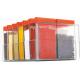 Darkpyro Red Plastic Spice Square Rack Set (12 Piece Jar + 1 Piece Stand)