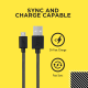 FLiX (Beetel) Durable USB to Micro USB Sync and 2A Fast Charge Cable(1 Mtr) (Black) (XCD-M101 BLK)