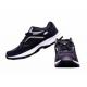 Black Men Lace Up Sports Shoes