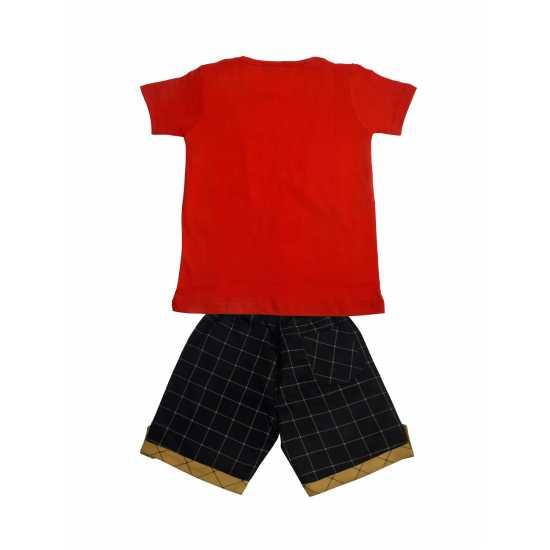 POMY & JINNY Boys Cotton Casual T-Shirt & Pant