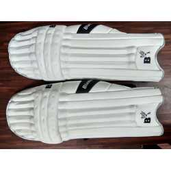 Laafi Sports White Cricket Batting Leg Guard