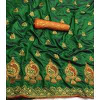 MDS Green Sana Silk Saree
