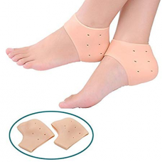 Hua You 1Pair Reusable Foot Silicone Heel Socks For Pedicure Against Cracking Chap Pain Protector Moisturizing Breathable Anti Crack Socks