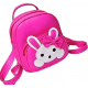 Pink PU Leather Backpack for School Student