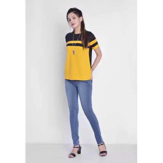Pure Cotton Regular Sleeve T-Shirt for Women/Girls