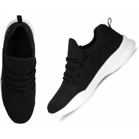BOGGYCO Genuine Quality Lace Up Sports Shoe (Black)