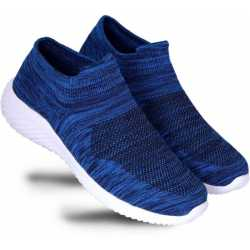 100% Genuine Textile Silk Mixed Quality Walking Shoes For Men  (Blue)