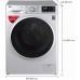 LG 8 kg Inverter Wi-Fi Fully-Automatic Front Loading Washing Machine