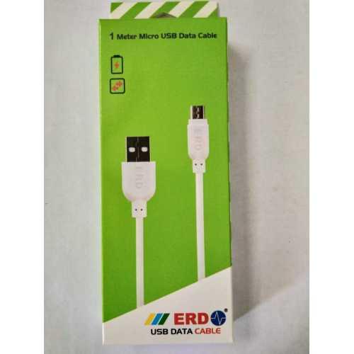 ERD 1 Meter PC 22 Micro USB Data Cable (White)