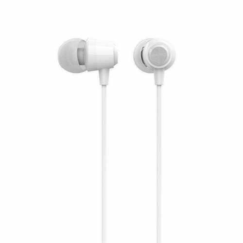 Gizmore Crystal Clear Sound in-Ear Headphones with Mic (White)