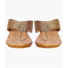 Z Plus Women's Gold Barbour Wedges Sandal