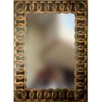 Khushi Enterprises Antique Mirror Modiguard Mirrror Gold