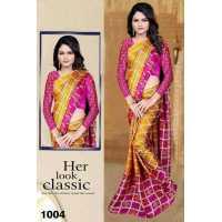 SK Fabric Moss Chiffon Saree Printed with Blouse Benglori