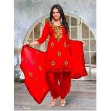 Women's Cotton Unstitched Salwar Suit Aari work