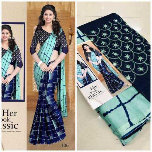 Women's Moss Print Saree