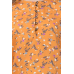 Casual Flared Sleeve Floral Print Women Orange Top