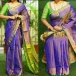 Beautiful Weaving Work Tissue by Linen Saree